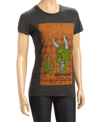 Black Nirvana & Pearl Jam Tee - Women