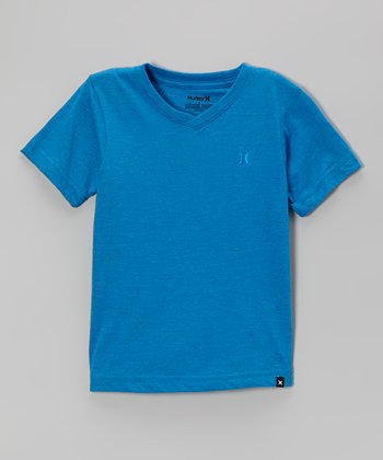 Heather Code Blue Tonal Tee - Boys