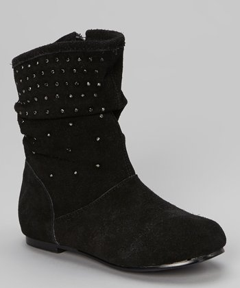 Black Suede TShorty Boot
