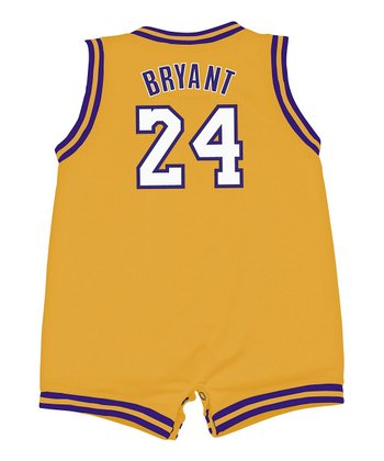 Yellow 'Bryant' Lakers Romper - Infant