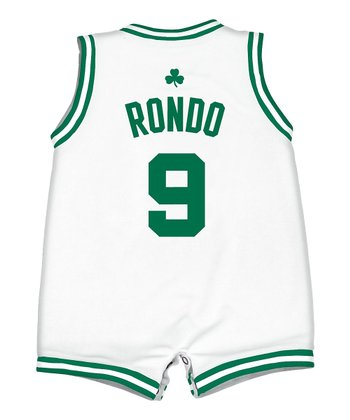White 'Rondo' Celtics Romper - Infant