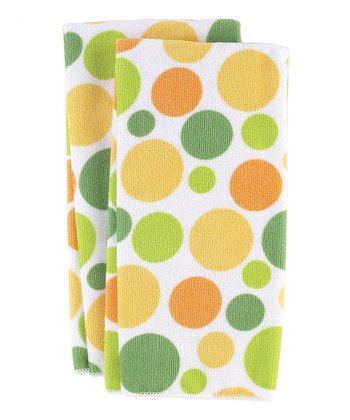 Butter Dot Microfiber Kitchen Towel - Set of Four