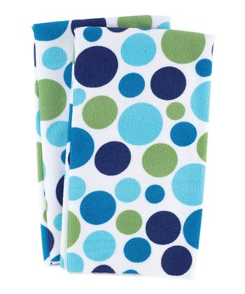 Ocean Dot Kitchen Towel - Set of Four