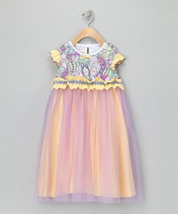 Yellow & Purple Princess Dress - Infant, Toddler & Girls