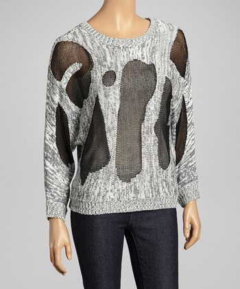 Black & Gray Abstract Sweater