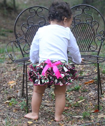 Camo Ruffle Diaper Cover - Infant