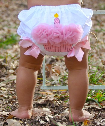 Pink Ruffle Cupcake Diaper Cover - Infant