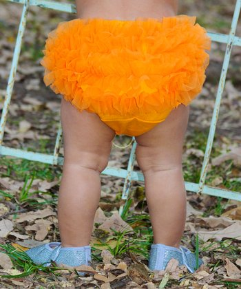 Orange Ruffle Diaper Cover - Infant