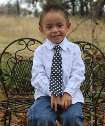 Black & White Polka Dot Tie