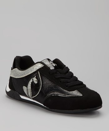 Black & Silver Dawn Sneaker - Kids