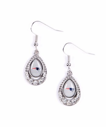 New England Patriots Teardrop Earrings