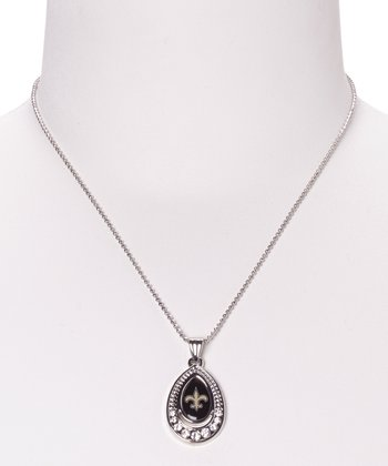 New Orleans Saints Teardrop Pendant Necklace