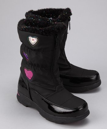 Black Heartful Boot
