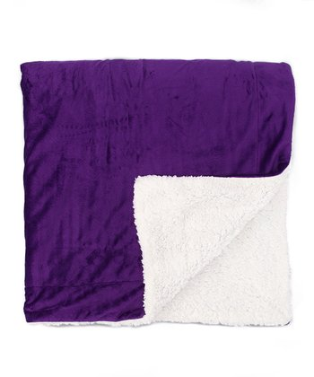Purple Reversible Throw