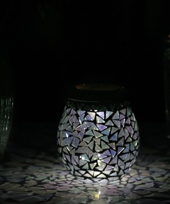 Obsidian Glass Mosaic Solar Lamp