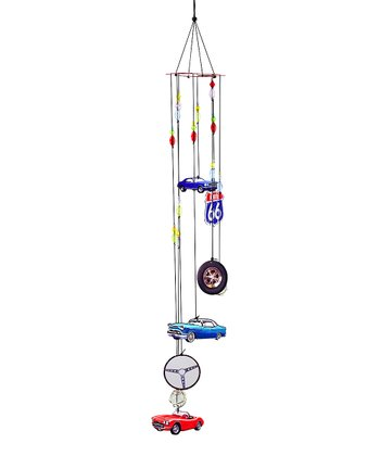 Blue & Red Automotive Wind Chime