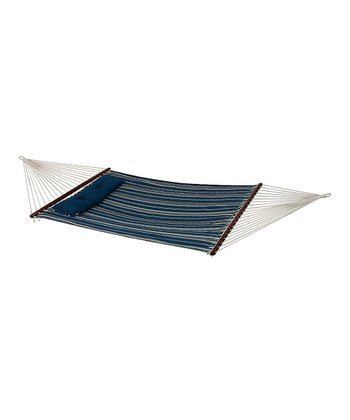 Blue Stripe Quilted Euro 55'' Bliss Hammock & Pillow