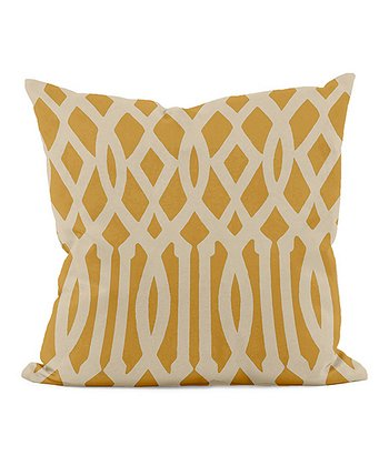 Gold Wide Trellis Indoor/Outdoor Pillow