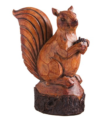 Carved Squirrel Figure