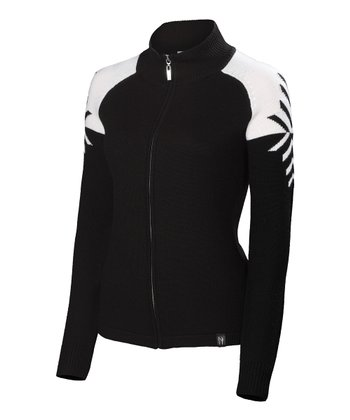 Black Leah Wool Track Jacket - Women
