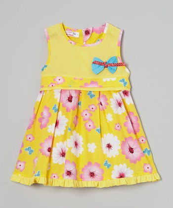 Yellow Daisy A-Line Dress - Toddler & Girls