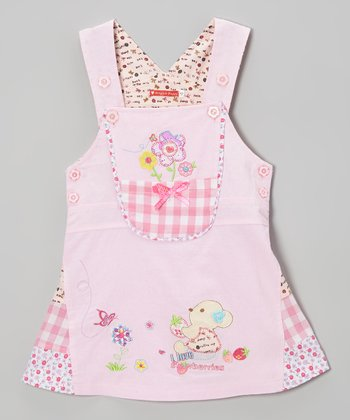 Pink 'I Love Strawberries' Dress - Infant, Toddler & Girls