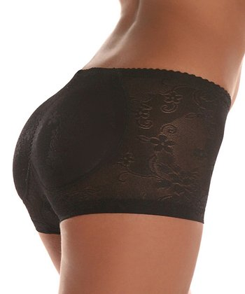 Black Fancy Fanny Padded Boyshorts - Women