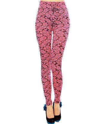 Fuchsia Wallpaper Seamless Leggings