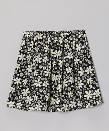 Black & White Daisy Skirt