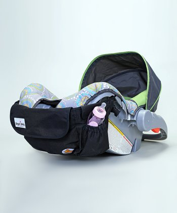 Black Roogo Four-in-One Attachable Diaper Bag