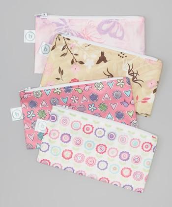 Bumkins Pink Snack Bag Set
