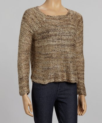Nicole Sabbattini Camel Loose Knit Sweater
