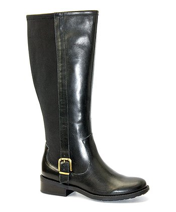 Black Leather Dane Boot