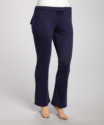 Navy Lounge Pants - Plus
