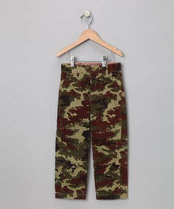 Camo Washed Cargo Pants - Toddler & Boys