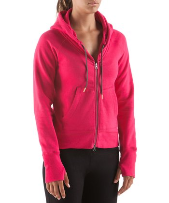 Dark Pink Thrive Full-Zip Hoodie