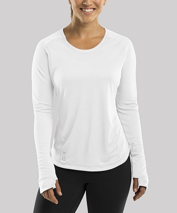 White Discipline Long-Sleeve Top