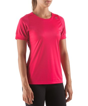 Dark Pink Discipline Training Short-Sleeve Top