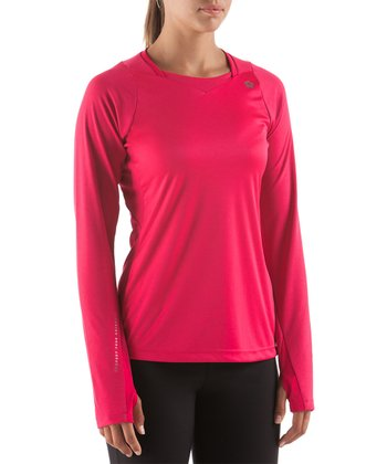 Dark Pink Discipline Training Long-Sleeve Top