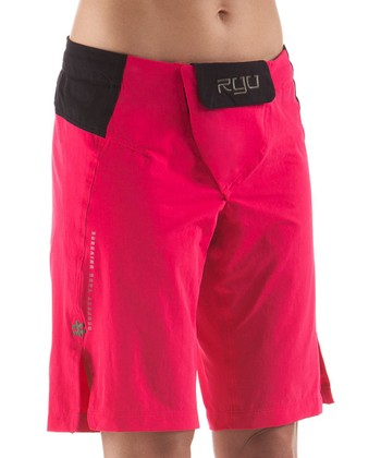 Dark Pink Onna Fight Shorts
