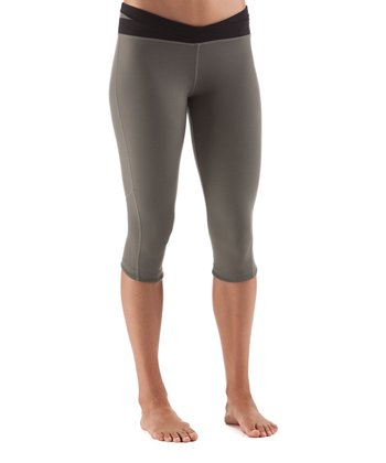 Gunmetal Lights Out Training Capri Pants