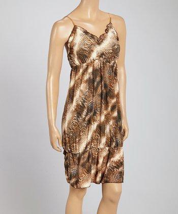 Banana Split Brown & Beige Abstract Dress