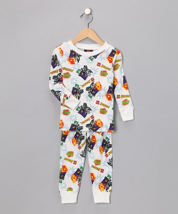 White Robot Sleep Tee & Pants - Toddler & Kids