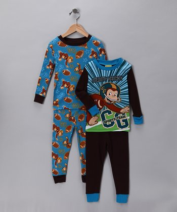Black & Blue Curious George Sleep Set