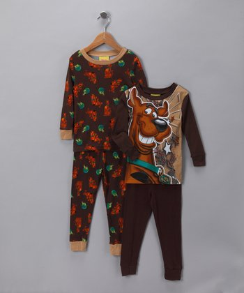 Brown Scooby-Doo Sleep Set - Kids