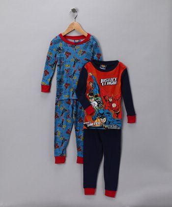 Blue Justice League Sleep Set - Kids