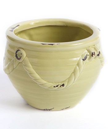 Mint Green Tuscany Rope Pot