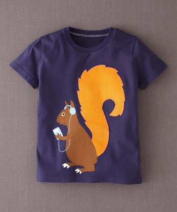 Navy Squirrel Tee - Infant, Toddler & Boys