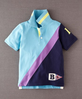 Light Blue Color Block Polo - Infant, Toddler & Boys