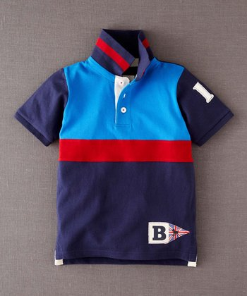 Navy Color Block Polo - Infant, Toddler & Boys